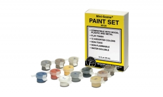 Woodland Scenics Mini-Scene® Paint Set - sada 12 barev