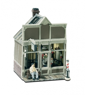 Woodland Scenics Mini-Scene® - Barber Shop - HO Scale Kit