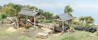 "Woodland Scenics ""Tie & Plank Mill"" - HO Scale Kit"
