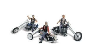 Woodland Scenics - Bad Boy Bikers - HO Scale