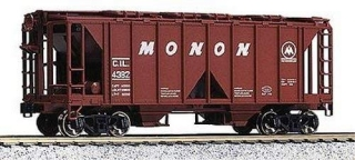 KATO HO ACF 70-Ton Covered Hopper - Monon - stavebnice 3ks