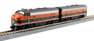 KATO N EMD F7A + F7B Freight Great Northern #444A/444B