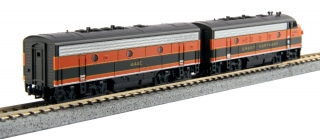 KATO N EMD F7A + F7B Freight Great Northern #444C/#444D