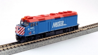 "KATO N EMD F40PH Chicago Metra  ""Village of Winfield"""