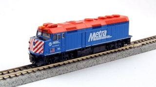 "KATO N EMD F40PH Chicago Metra ""City of Elmhurst"""