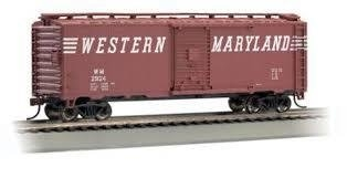 Bachmann HO 40 FT Box Car - Western Maryland