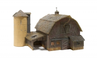 Woodland Scenics Old Weathered Barn - HO Scale