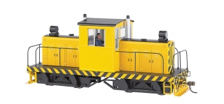 Bachmann On30 Whitcomb 50-Ton - yellow w/ black stripes - bez označení - DCC