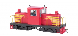 Bachmann On30 Whitcomb 50-Ton - red w/ yellow - bez označení - DCC