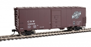 Walthers Mainline HO 40´ AAR Modernized 1948 Boxcar - Chicago & North Western