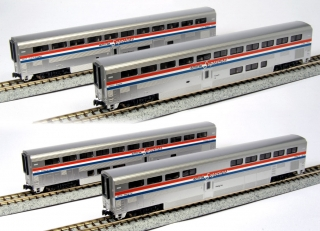 KATO N Superliner Amtrak Phase III 4-Car Set A