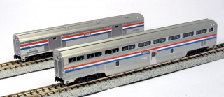 KATO N Step-Down Coach and Baggage Car Amtrak Phase III 2-Car Set