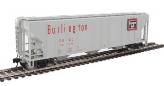 Walthers  50' Pullman-Standard PS-2 Covered Hopper - CB&Q #85520