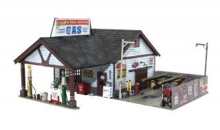 Woodland Scenics Ethyl's Gas & Service - N Scale