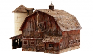 Woodland Scenics Rustic Barn - N Scale Kit