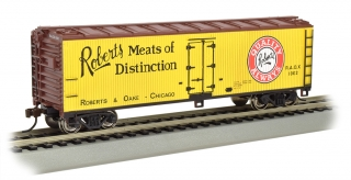 Bachmann HO 40 FT Wood-side Refrigerated - Robert's Meats of Distinction