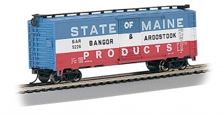 Bachmann HO 40 FT Box Car - Bangor & Aroostook
